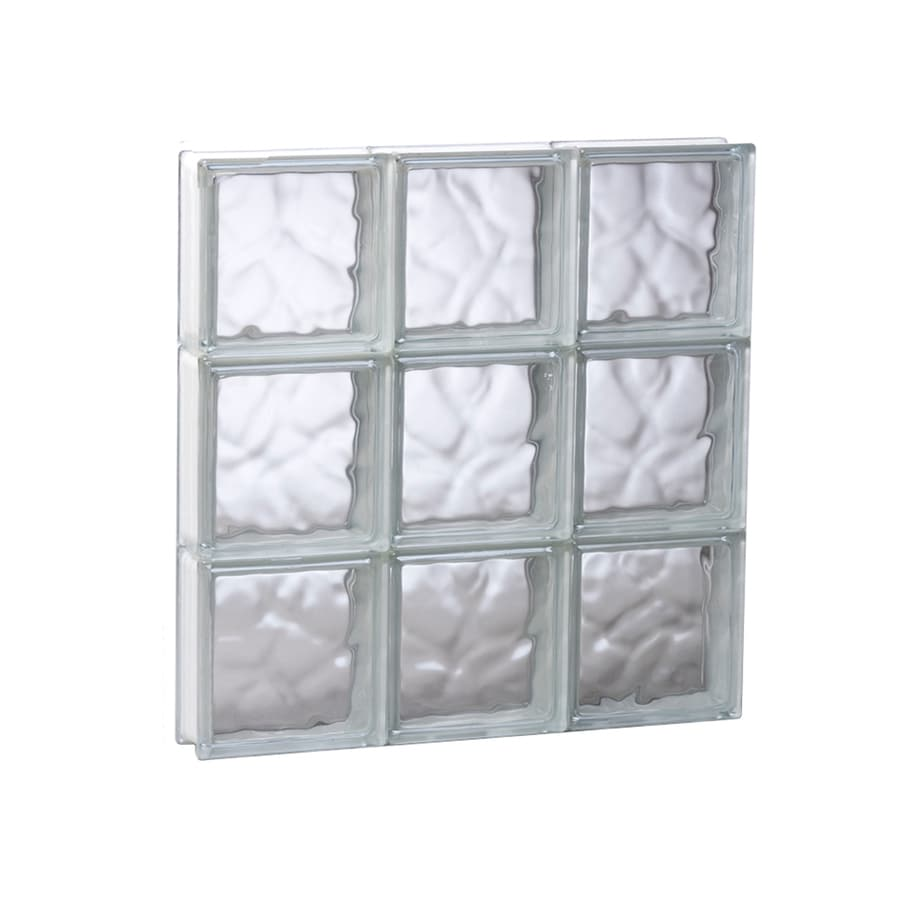 REDI2SET Wavy Glass Pattern Frameless Replacement Glass Block Window (Rough Opening: 23.75-in x 23.75-in; Actual: 23.25-in x 23.25-in)