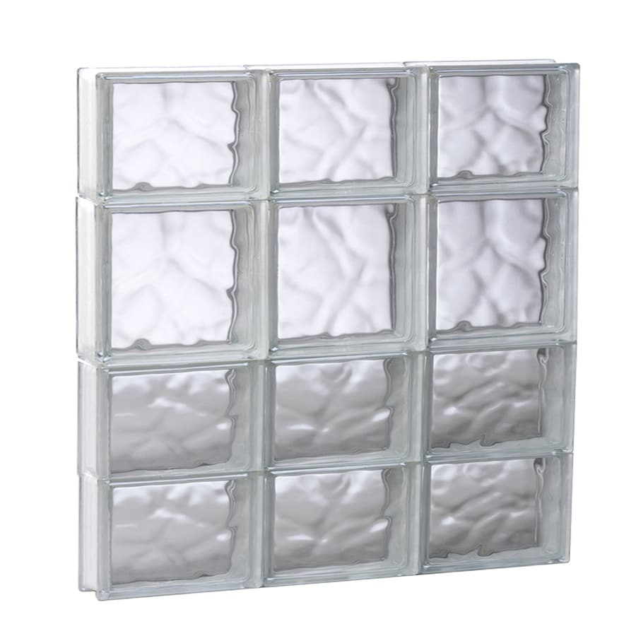REDI2SET Wavy Glass Pattern Frameless Replacement Glass Block Window (Rough Opening: 23.75-in x 25.5-in; Actual: 23.25-in x 25-in)