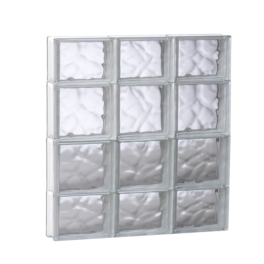 REDI2SET Wavy Glass Pattern Frameless Replacement Glass Block Window (Rough Opening: 23.75-in x 27.5-in; Actual: 23.25-in x 27-in)