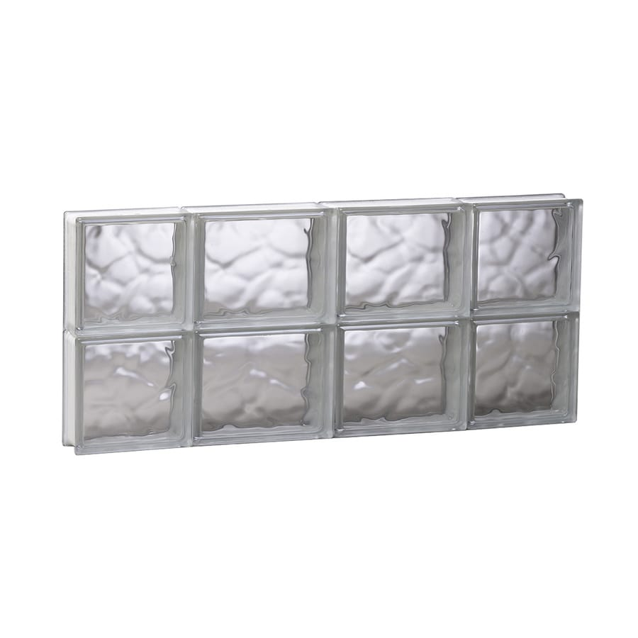 REDI2SET Wavy Glass Pattern Frameless Replacement Glass Block Window (Rough Opening: 27.5000-in x 12-in; Actual: 27-in x 11.5000-in)