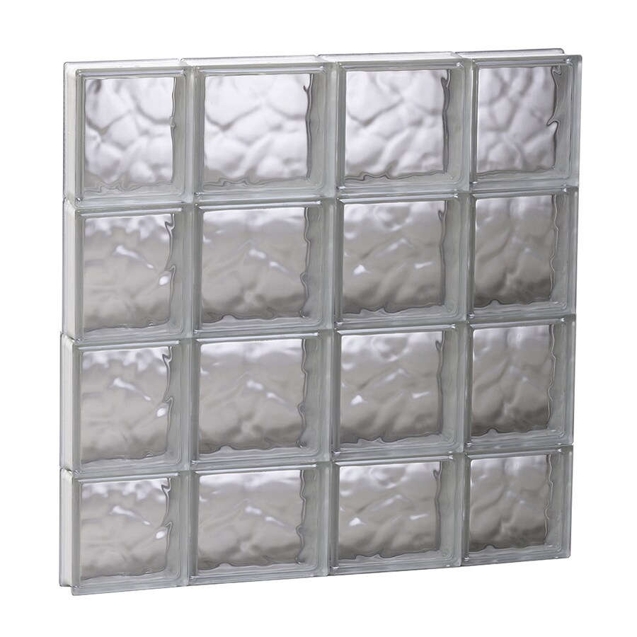 REDI2SET Wavy Glass Pattern Frameless Replacement Glass Block Window (Rough Opening: 27.5-in x 29.5-in; Actual: 27-in x 29-in)