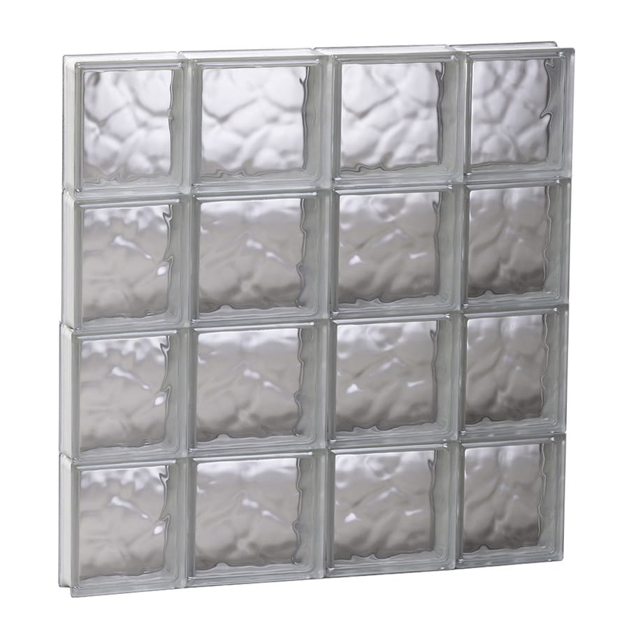 REDI2SET Wavy Glass Pattern Frameless Replacement Glass Block Window (Rough Opening: 27.5-in x 31.5-in; Actual: 27-in x 31-in)