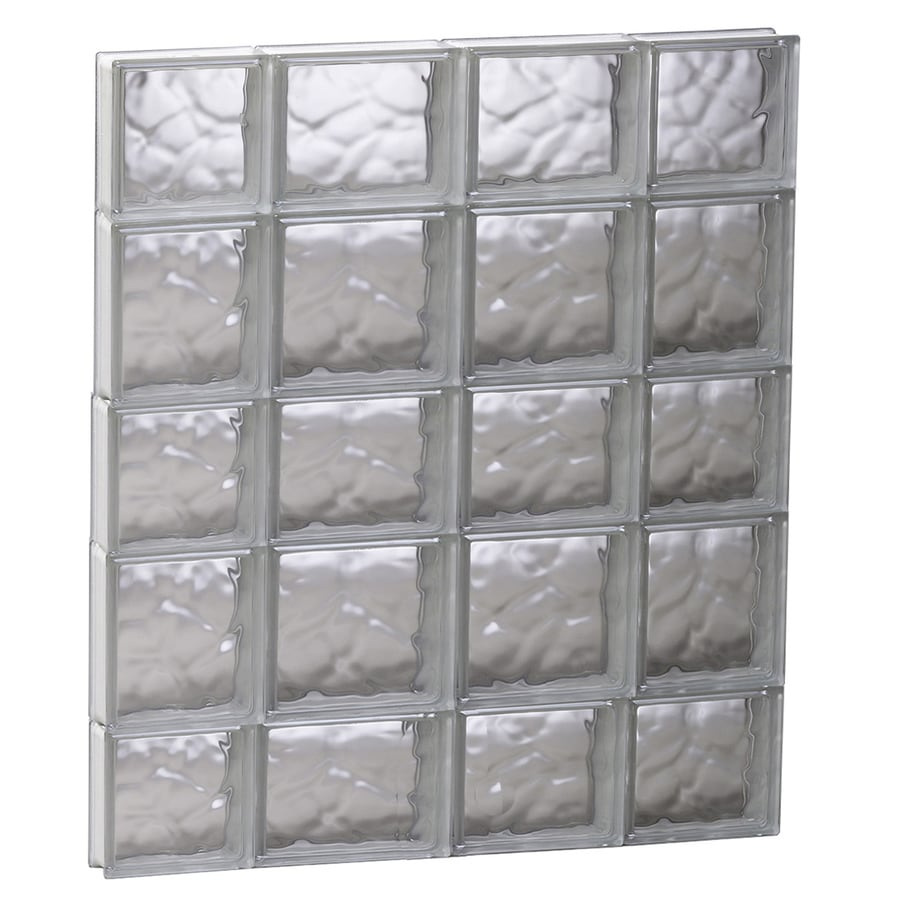 REDI2SET Wavy Glass Pattern Frameless Replacement Glass Block Window (Rough Opening: 27.5-in x 33.25-in; Actual: 27-in x 32.75-in)