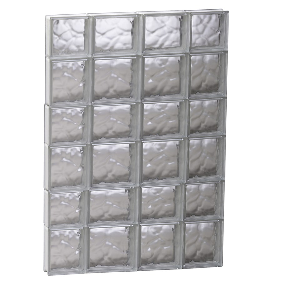 REDI2SET Wavy Glass Pattern Frameless Replacement Glass Block Window (Rough Opening: 27.5-in x 41-in; Actual: 27-in x 40.5-in)