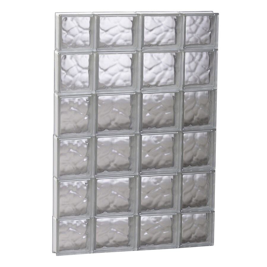 REDI2SET Wavy Glass Pattern Frameless Replacement Glass Block Window (Rough Opening: 27.5-in x 43-in; Actual: 27-in x 42.5-in)