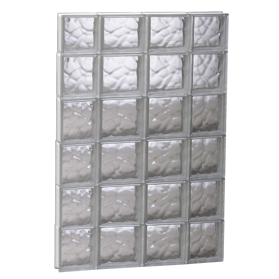 REDI2SET Wavy Glass Pattern Frameless Replacement Glass Block Window (Rough Opening: 27.5-in x 45-in; Actual: 27-in x 44.5-in)