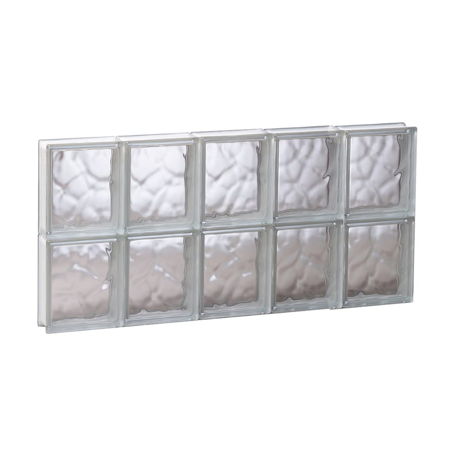 REDI2SET Wavy Glass Pattern Frameless Replacement Glass Block Window (Rough Opening: 29.25-in x 16-in; Actual: 28.75-in x 15.5-in)
