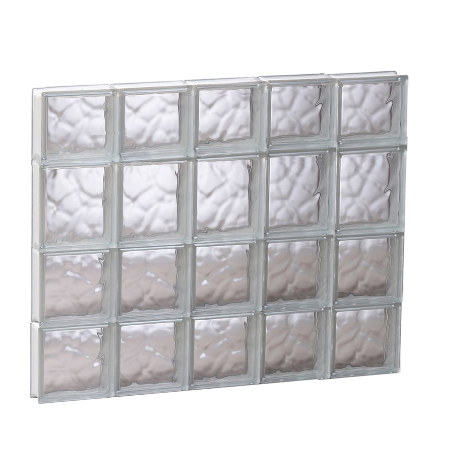REDI2SET Wavy Glass Pattern Frameless Replacement Glass Block Window (Rough Opening: 29.25-in x 25.5-in; Actual: 28.75-in x 25-in)
