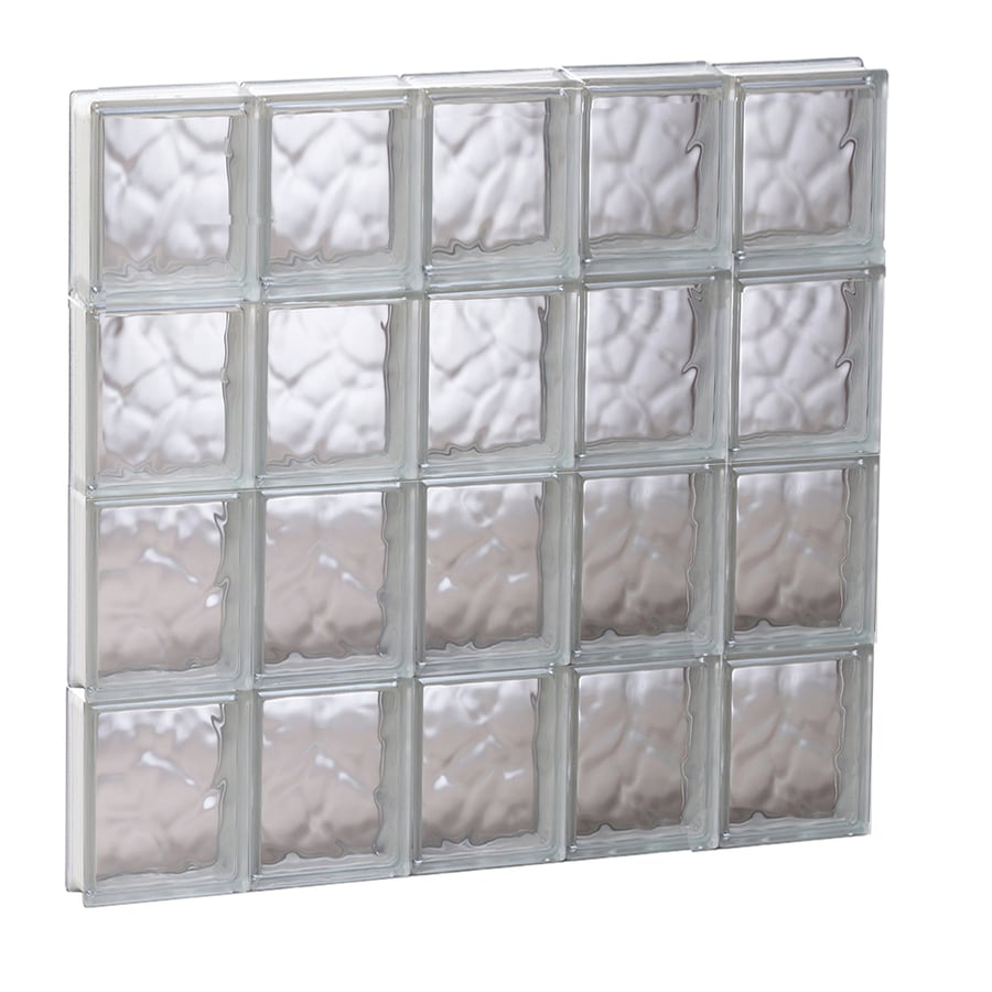 REDI2SET Wavy Glass Pattern Frameless Replacement Glass Block Window (Rough Opening: 29.2500-in x 31.5000-in; Actual: 28.7500-in x 31-in)