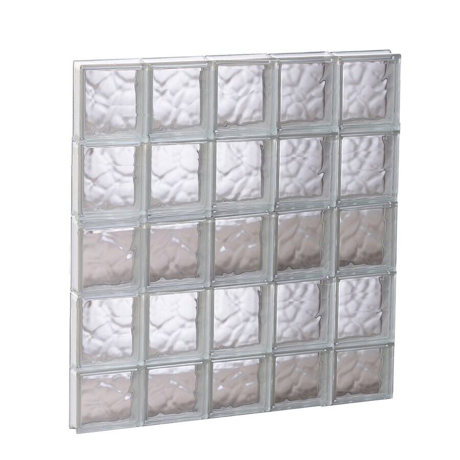 REDI2SET Wavy Pattern Frameless Replacement Glass Block Window (Rough Opening: 29.25-in x 37.25-in; Actual: 28.75-in x 36.75-in)