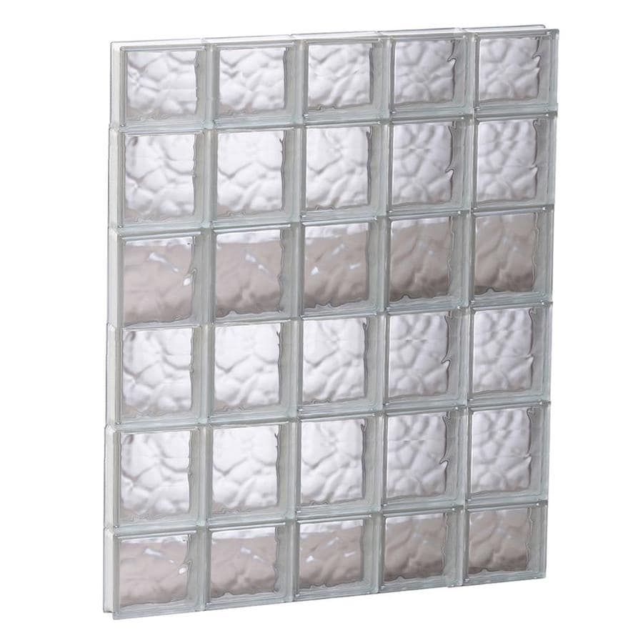 REDI2SET Wavy Pattern Frameless Replacement Glass Block Window (Rough Opening: 29.25-in x 43-in; Actual: 28.75-in x 42.5-in)