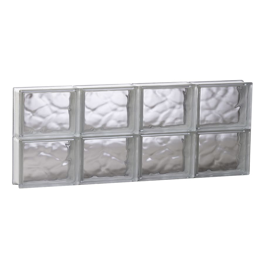 REDI2SET Wavy Glass Pattern Frameless Replacement Glass Block Window (Rough Opening: 31.5-in x 12-in; Actual: 31-in x 11.5-in)