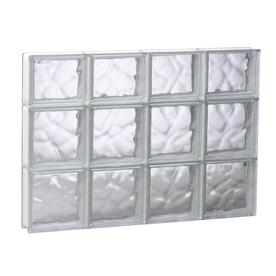 redi2set wavy glass pattern frameless replacement glass clear block window rough opening 315 - Glass Blocks Lowes