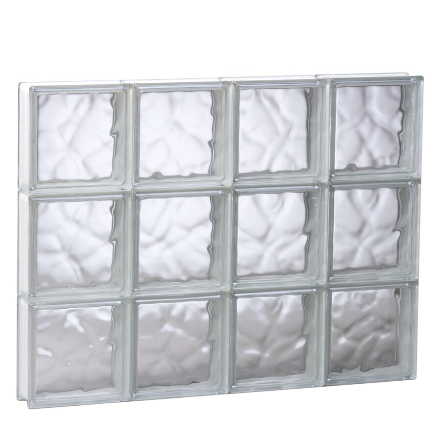 REDI2SET Wavy Glass Pattern Frameless Replacement Glass Block Window (Rough Opening: 31.5-in x 23.75-in; Actual: 31-in x 23.25-in)