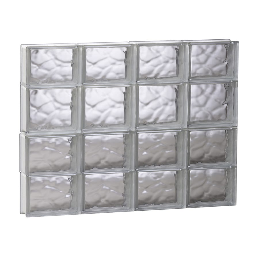 REDI2SET Wavy Glass Pattern Frameless Replacement Glass Block Window (Rough Opening: 31.5-in x 25.5-in; Actual: 31-in x 25-in)