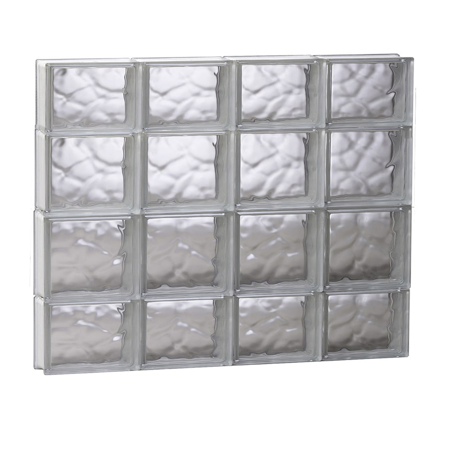 REDI2SET Wavy Glass Pattern Frameless Replacement Glass Block Window (Rough Opening: 31.5-in x 27.5-in; Actual: 31-in x 27-in)