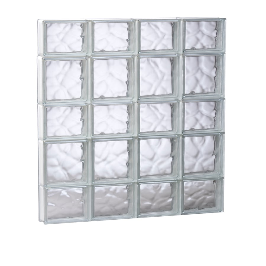 REDI2SET Wavy Glass Pattern Frameless Replacement Glass Block Window (Rough Opening: 31.5000-in x 33.2500-in; Actual: 31-in x 32.7500-in)
