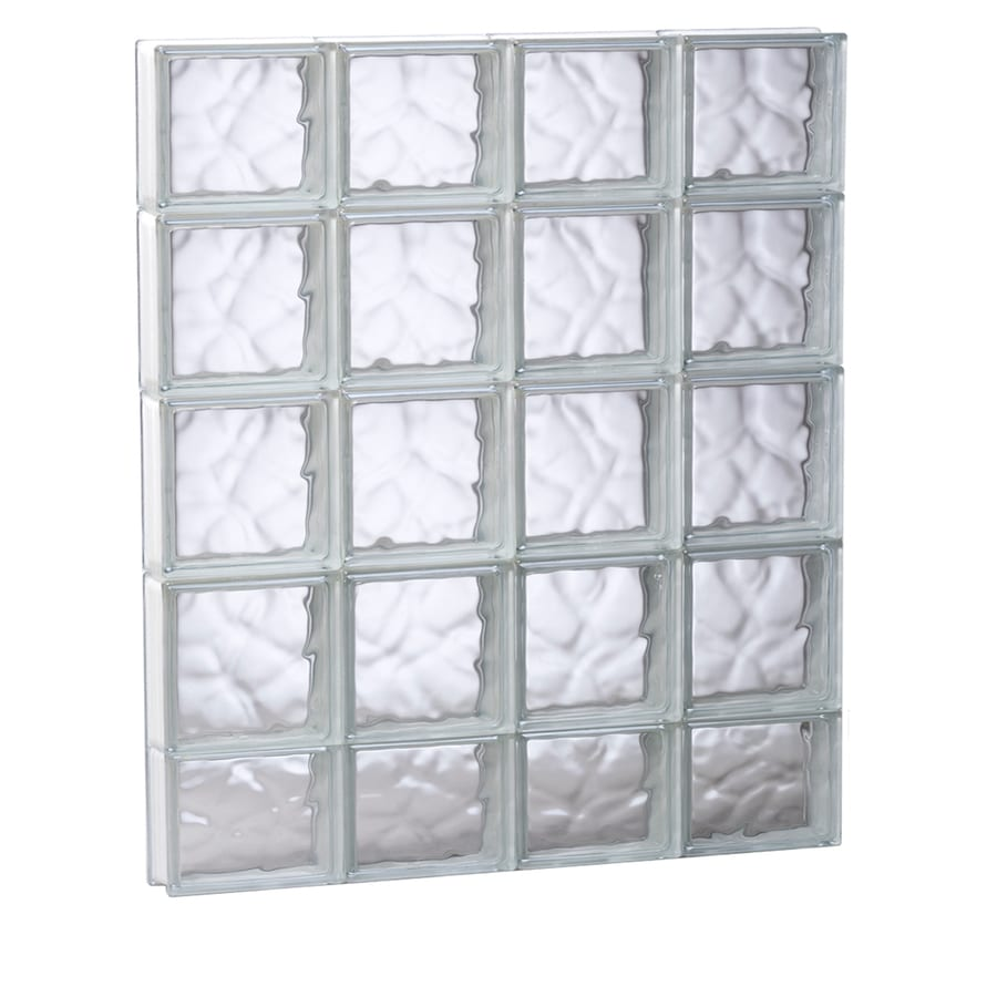 REDI2SET Wavy Glass Pattern Frameless Replacement Glass Block Window (Rough Opening: 31.5-in x 37.25-in; Actual: 31-in x 36.75-in)