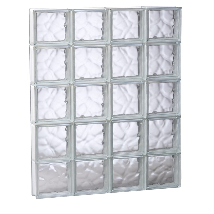 REDI2SET Wavy Pattern Frameless Replacement Glass Block Window (Rough Opening: 31.5-in x 39.25-in; Actual: 31-in x 38.75-in)