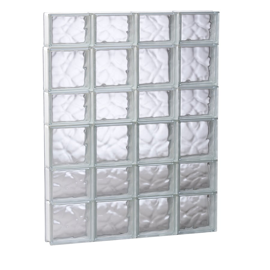 REDI2SET Wavy Glass Pattern Frameless Replacement Glass Block Window (Rough Opening: 31.5-in x 41-in; Actual: 31-in x 40.5-in)