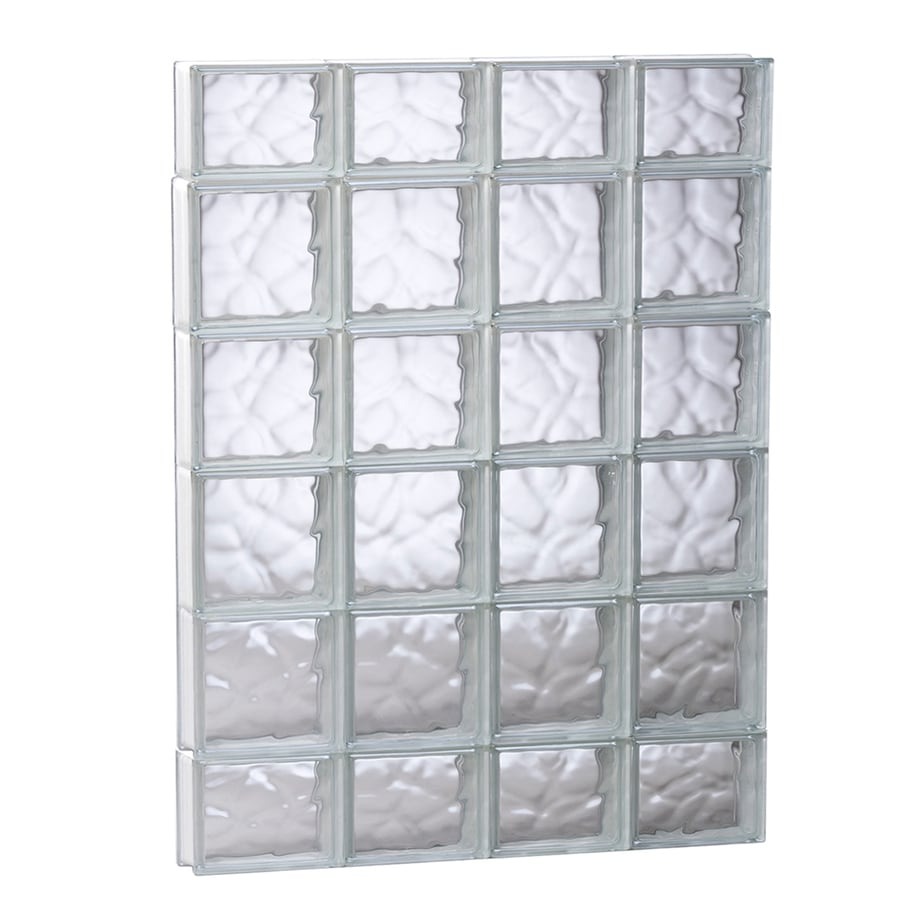 REDI2SET Wavy Pattern Frameless Replacement Glass Block Window (Rough Opening: 31.5-in x 43-in; Actual: 31-in x 42.5-in)