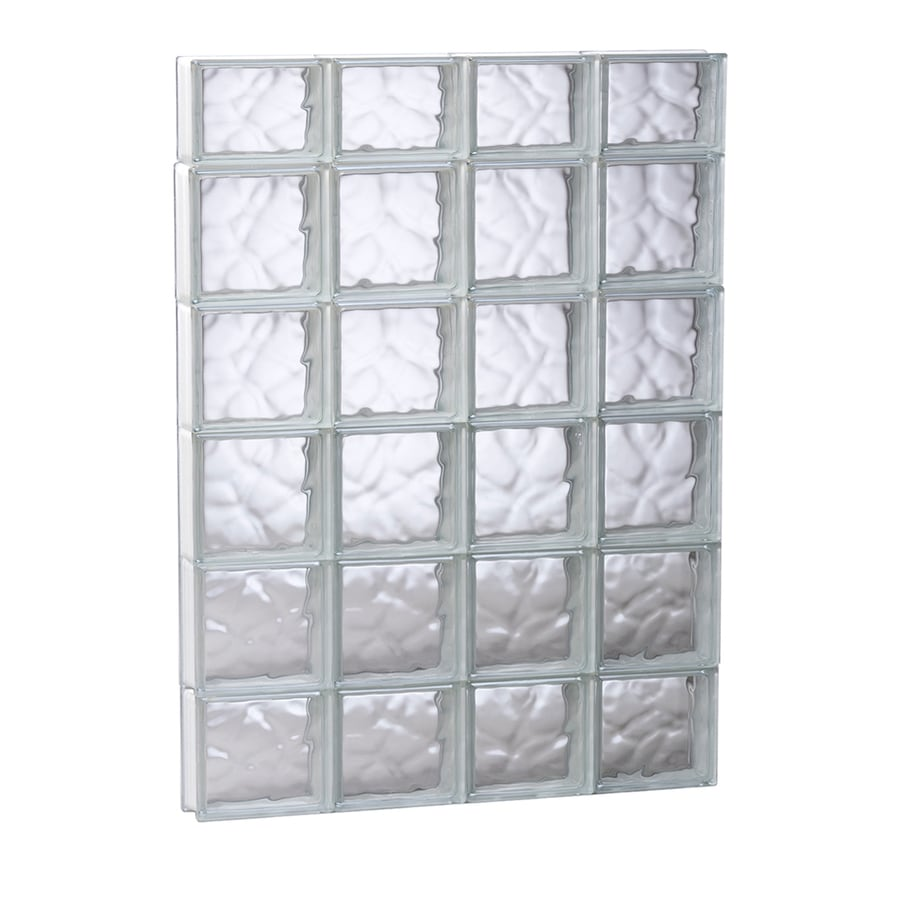 REDI2SET Wavy Pattern Frameless Replacement Glass Block Window (Rough Opening: 31.5-in x 45-in; Actual: 31-in x 44.5-in)