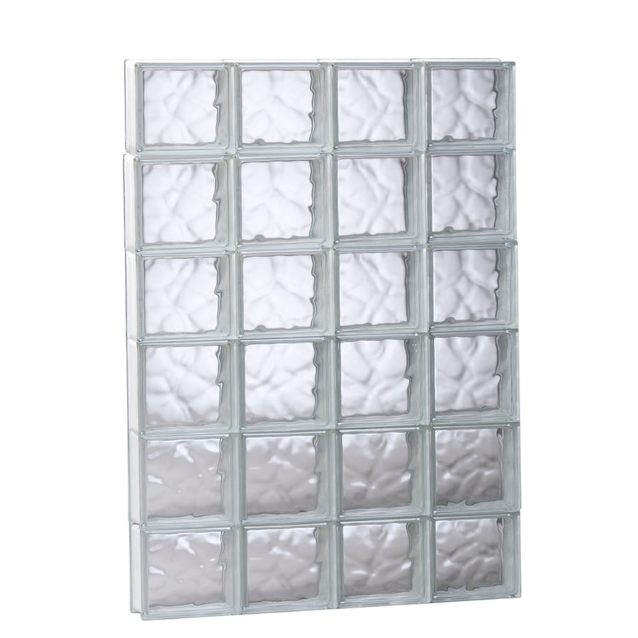 Redi2set Wavy Glass Pattern Frameless Replacement Glass