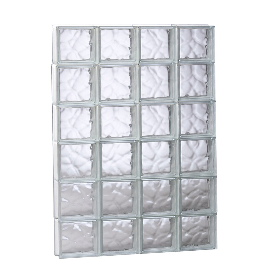 REDI2SET Wavy Glass Pattern Frameless Replacement Glass Block Window (Rough Opening: 31.5-in x 47-in; Actual: 31-in x 46.5-in)