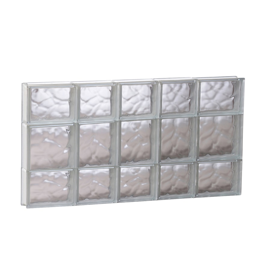 REDI2SET Wavy Glass Pattern Frameless Replacement Glass Block Window (Rough Opening: 33.25-in x 19.75-in; Actual: 32.75-in x 19.25-in)