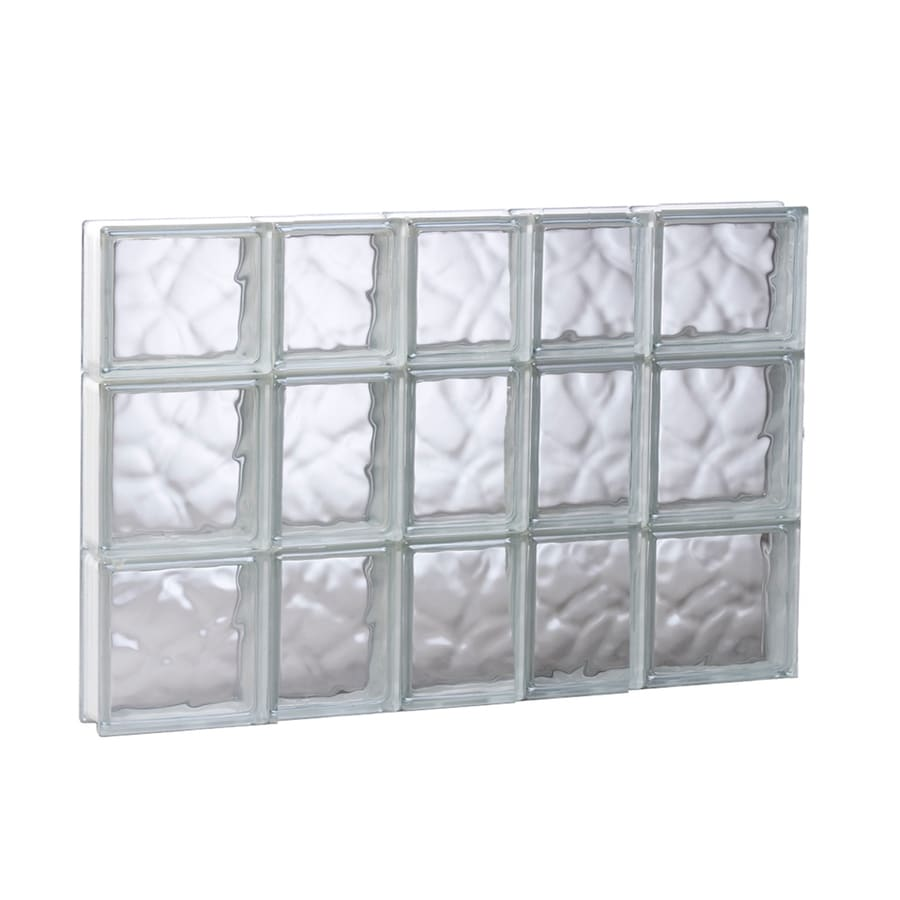 REDI2SET Wavy Pattern Frameless Replacement Glass Block Window (Rough Opening: 33.25-in x 21.75-in; Actual: 32.75-in x 21.25-in)
