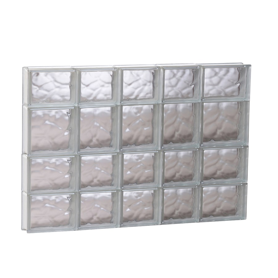 REDI2SET Wavy Glass Pattern Frameless Replacement Glass Block Window (Rough Opening: 33.2500-in x 25.5000-in; Actual: 32.7500-in x 25-in)