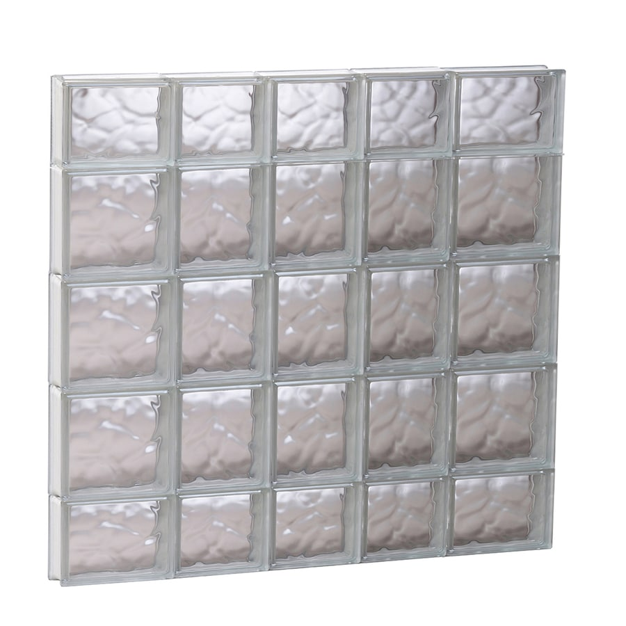 REDI2SET Wavy Glass Pattern Frameless Replacement Glass Block Window (Rough Opening: 33.25-in x 35.25-in; Actual: 32.75-in x 34.75-in)