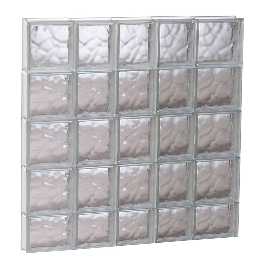 REDI2SET Wavy Glass Pattern Frameless Replacement Glass Block Window (Rough Opening: 33.25-in x 37.25-in; Actual: 32.75-in x 36.75-in)