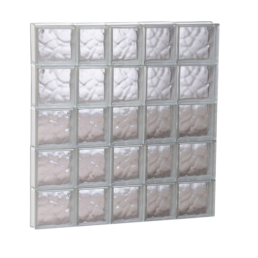 REDI2SET Wavy Glass Pattern Frameless Replacement Glass Block Window (Rough Opening: 33.25-in x 39.25-in; Actual: 32.75-in x 38.75-in)