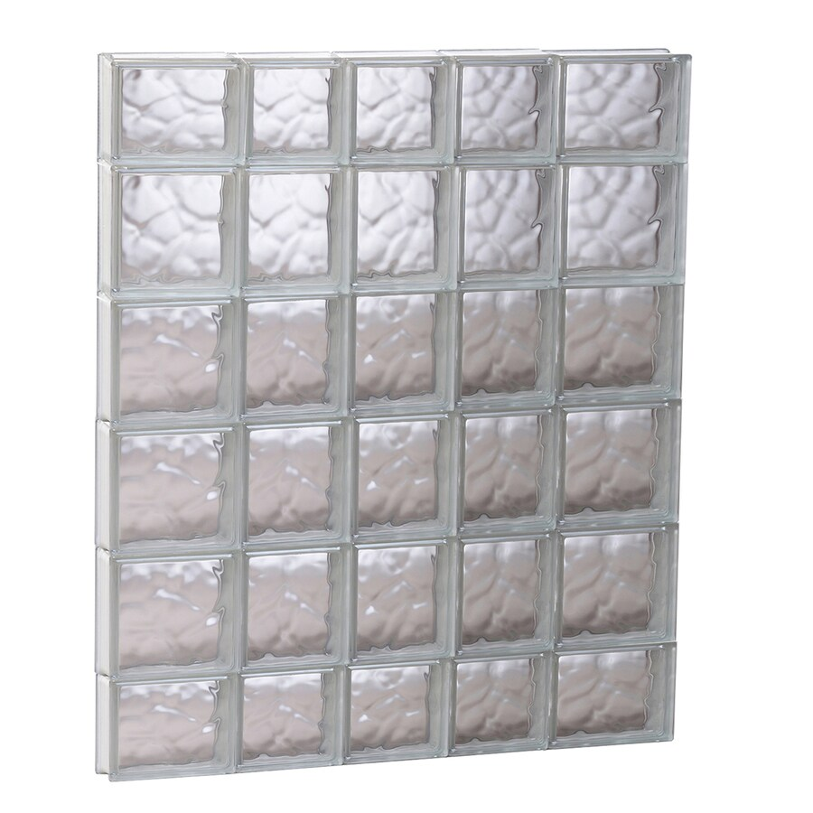 REDI2SET Wavy Glass Pattern Frameless Replacement Glass Block Window (Rough Opening: 33.25-in x 43-in; Actual: 32.75-in x 42.5-in)