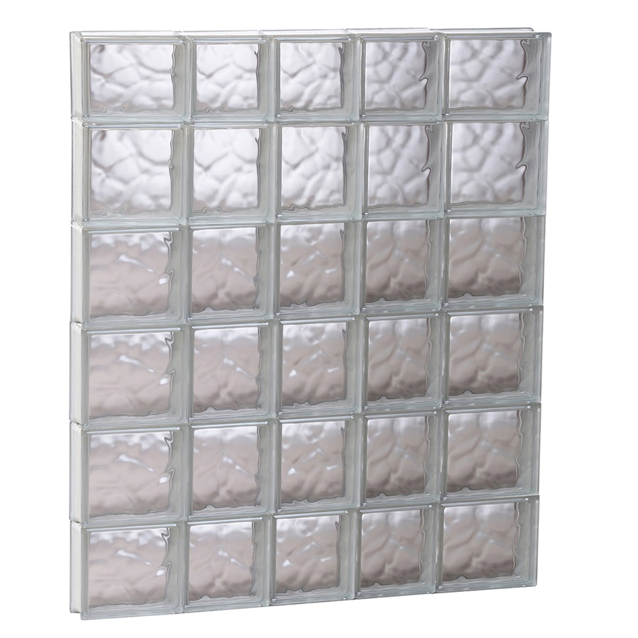 REDI2SET Wavy Glass Pattern Frameless Replacement Glass Block Window (Rough Opening: 33.25-in x 45-in; Actual: 32.75-in x 44.5-in)