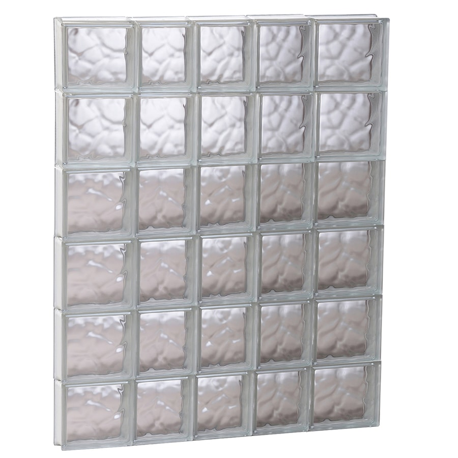 REDI2SET Wavy Glass Pattern Frameless Replacement Glass Block Window (Rough Opening: 33.25-in x 47-in; Actual: 32.75-in x 46.5-in)