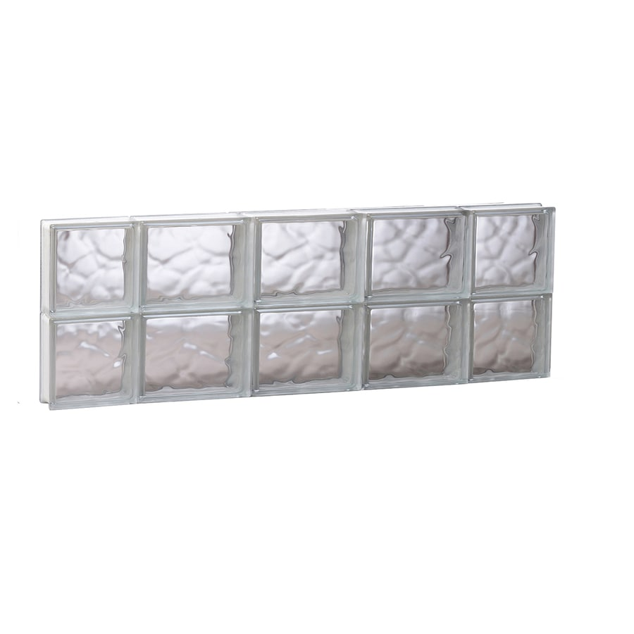 REDI2SET Wavy Glass Pattern Frameless Replacement Glass Block Window (Rough Opening: 35.25-in x 12-in; Actual: 34.75-in x 11.5-in)