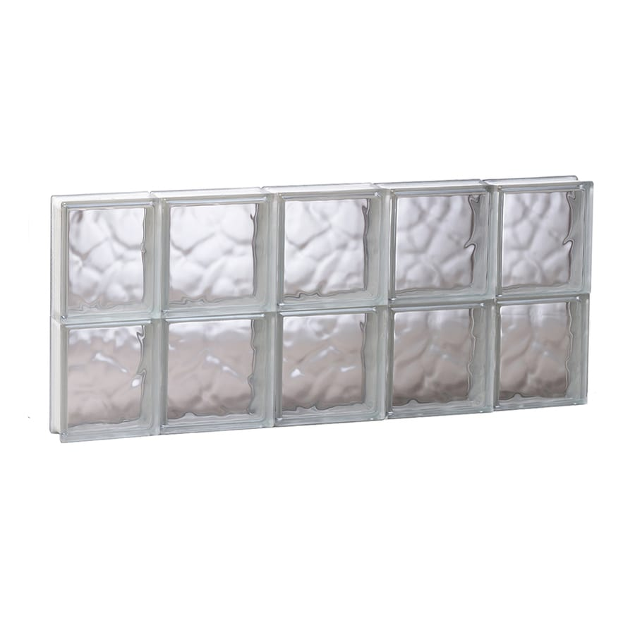 REDI2SET Wavy Glass Pattern Frameless Replacement Glass Block Window (Rough Opening: 35.25-in x 16-in; Actual: 34.75-in x 15.5-in)