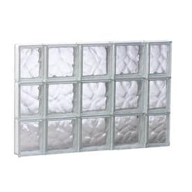 redi2set wavy glass pattern frameless replacement glass clear block window rough opening 3525 - Glass Blocks Lowes