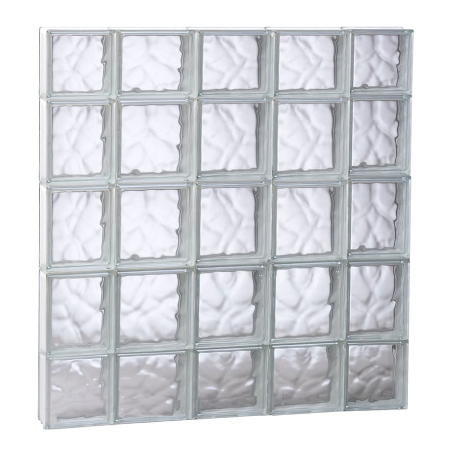 Shop redi2set wavy glass pattern frameless replacement for Replacement window sizes
