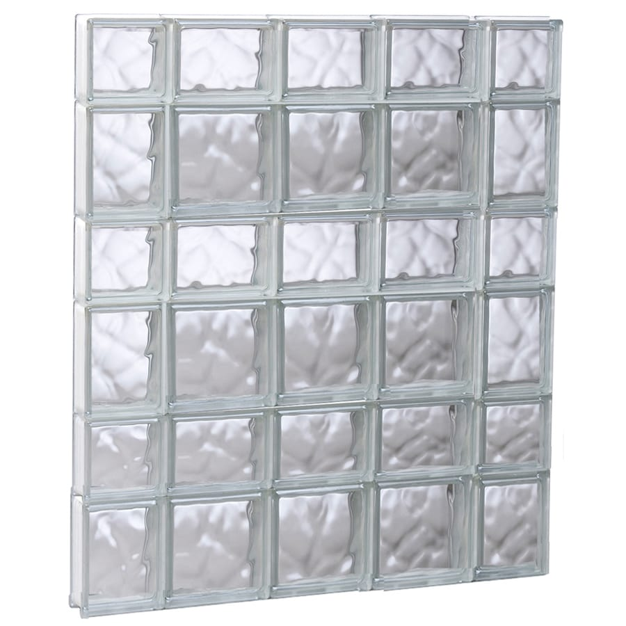 REDI2SET Wavy Glass Pattern Frameless Replacement Glass Block Window (Rough Opening: 35.25-in x 41-in; Actual: 34.75-in x 40.5-in)