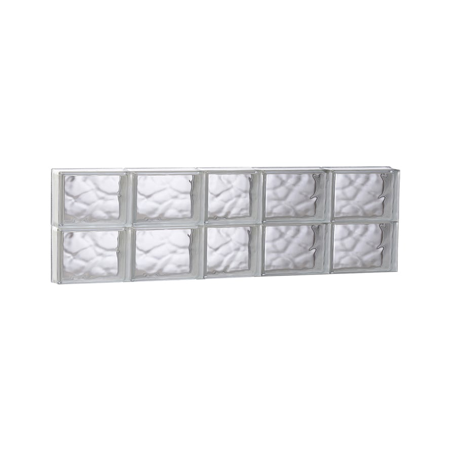 REDI2SET Wavy Glass Pattern Frameless Replacement Glass Block Window (Rough Opening: 37.25-in x 12-in; Actual: 36.75-in x 11.5-in)