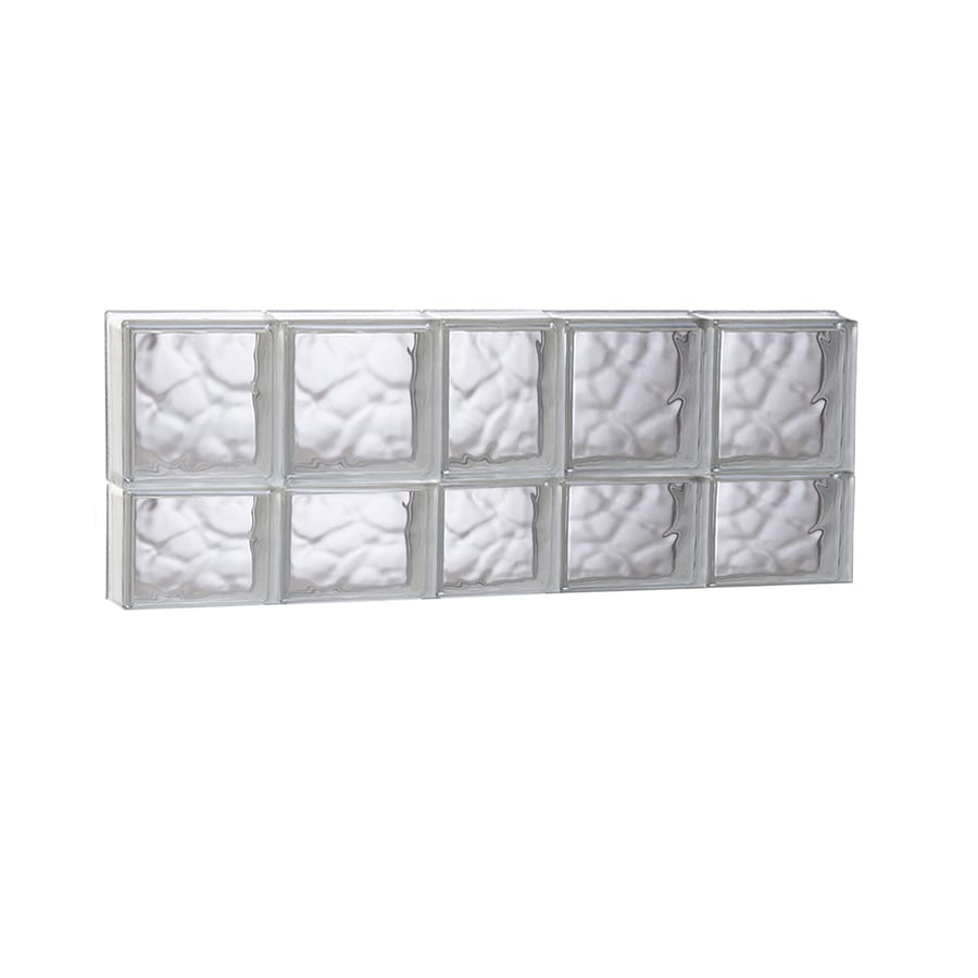 REDI2SET Wavy Glass Pattern Frameless Replacement Glass Block Window (Rough Opening: 37.25-in x 14-in; Actual: 36.75-in x 13.5-in)