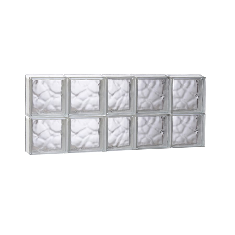 REDI2SET Wavy Glass Pattern Frameless Replacement Glass Block Window (Rough Opening: 37.25-in x 16-in; Actual: 36.75-in x 15.5-in)