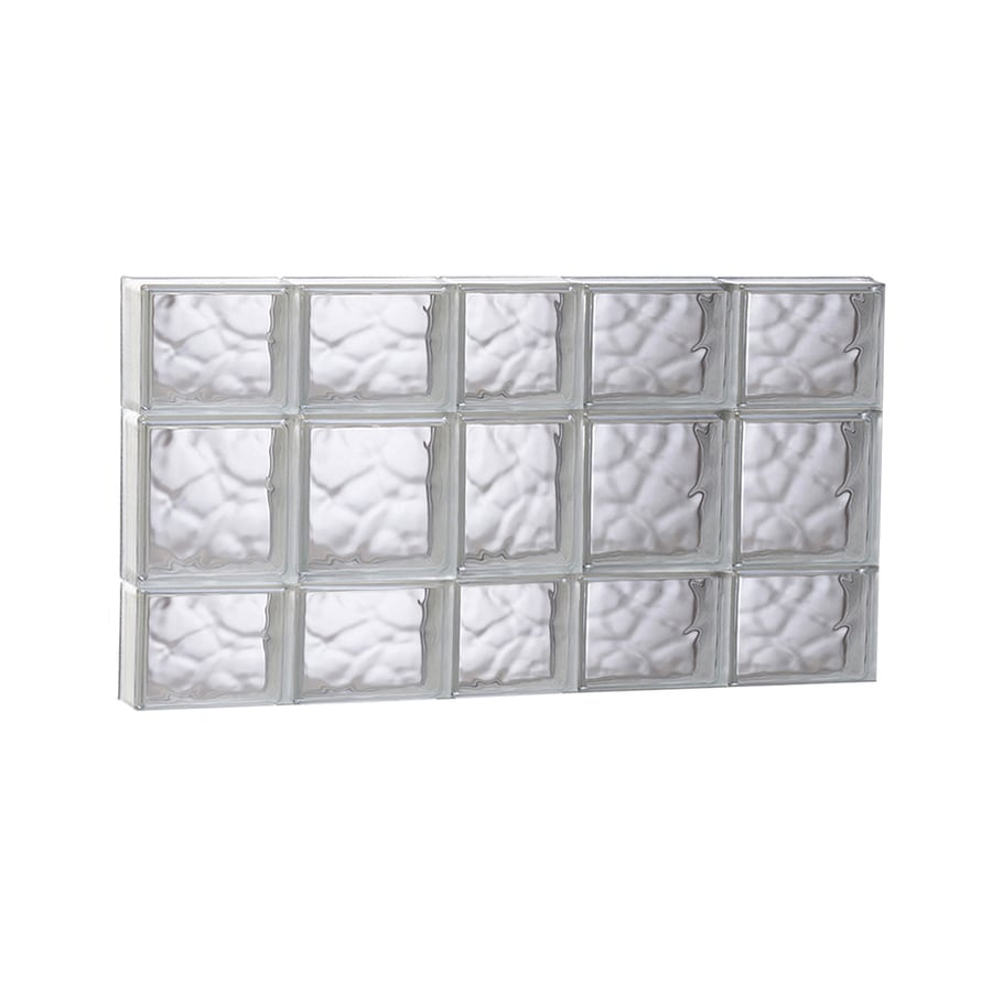 REDI2SET Wavy Glass Pattern Frameless Replacement Glass Block Window (Rough Opening: 37.2500-in x 19.7500-in; Actual: 36.7500-in x 19.2500-in)