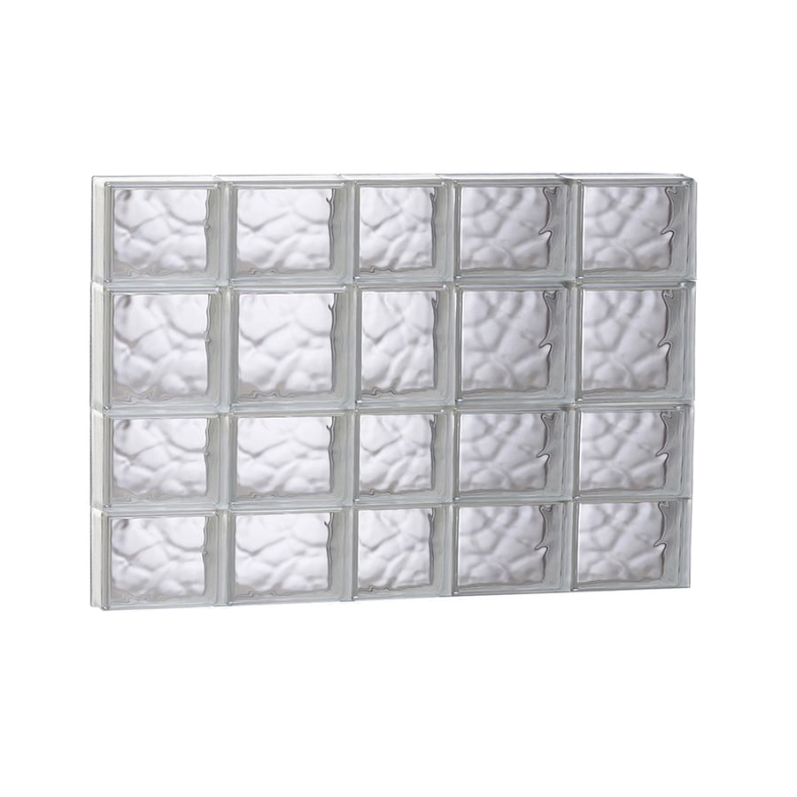 REDI2SET Wavy Glass Pattern Frameless Replacement Glass Block Window (Rough Opening: 37.25-in x 25.5-in; Actual: 36.75-in x 25-in)