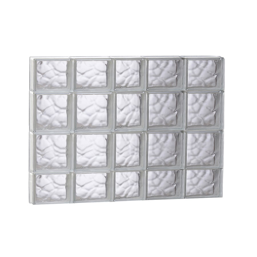 REDI2SET Wavy Glass Pattern Frameless Replacement Glass Block Window (Rough Opening: 37.25-in x 27.5-in; Actual: 36.75-in x 27-in)
