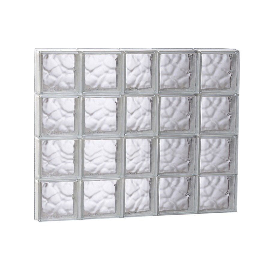 REDI2SET Wavy Glass Pattern Frameless Replacement Glass Block Window (Rough Opening: 37.25-in x 31.5-in; Actual: 36.75-in x 31-in)