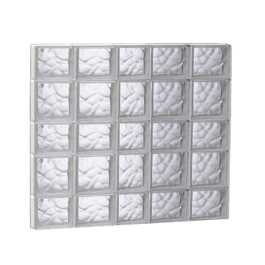 REDI2SET Wavy Glass Pattern Frameless Replacement Glass Block Window (Rough Opening: 37.25-in x 33.25-in; Actual: 36.75-in x 32.75-in)